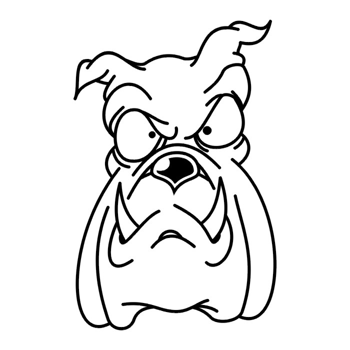 Cartoon Dog Face Clip Art Library