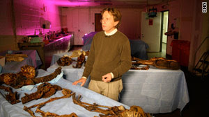 Ronn Wade, with samples from the Burns Collection,  mummified a dead rat for his ninth-grade science project.