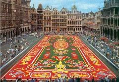 Perayaan Sewaktu Spring di Grand Place, Brussels, Belgium