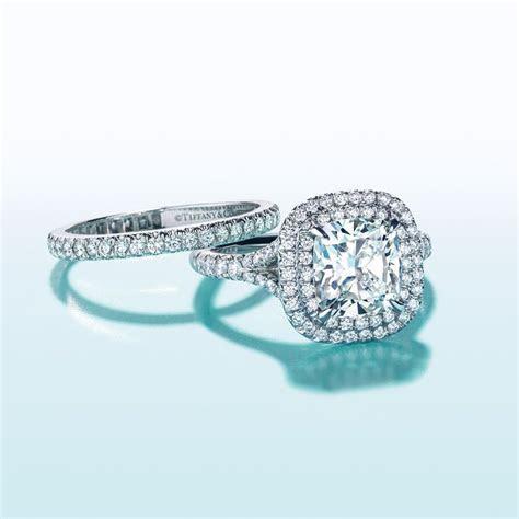 Tiffany Soleste® Cushion Cut Double Halo Engagement Ring