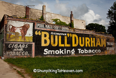 Uncovered Bull Durham Mural, Ackley, Iowa