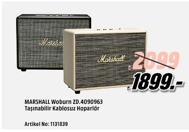 Marshall Woburn Taşınabilir Kablosuz Hoparlör 1899TL