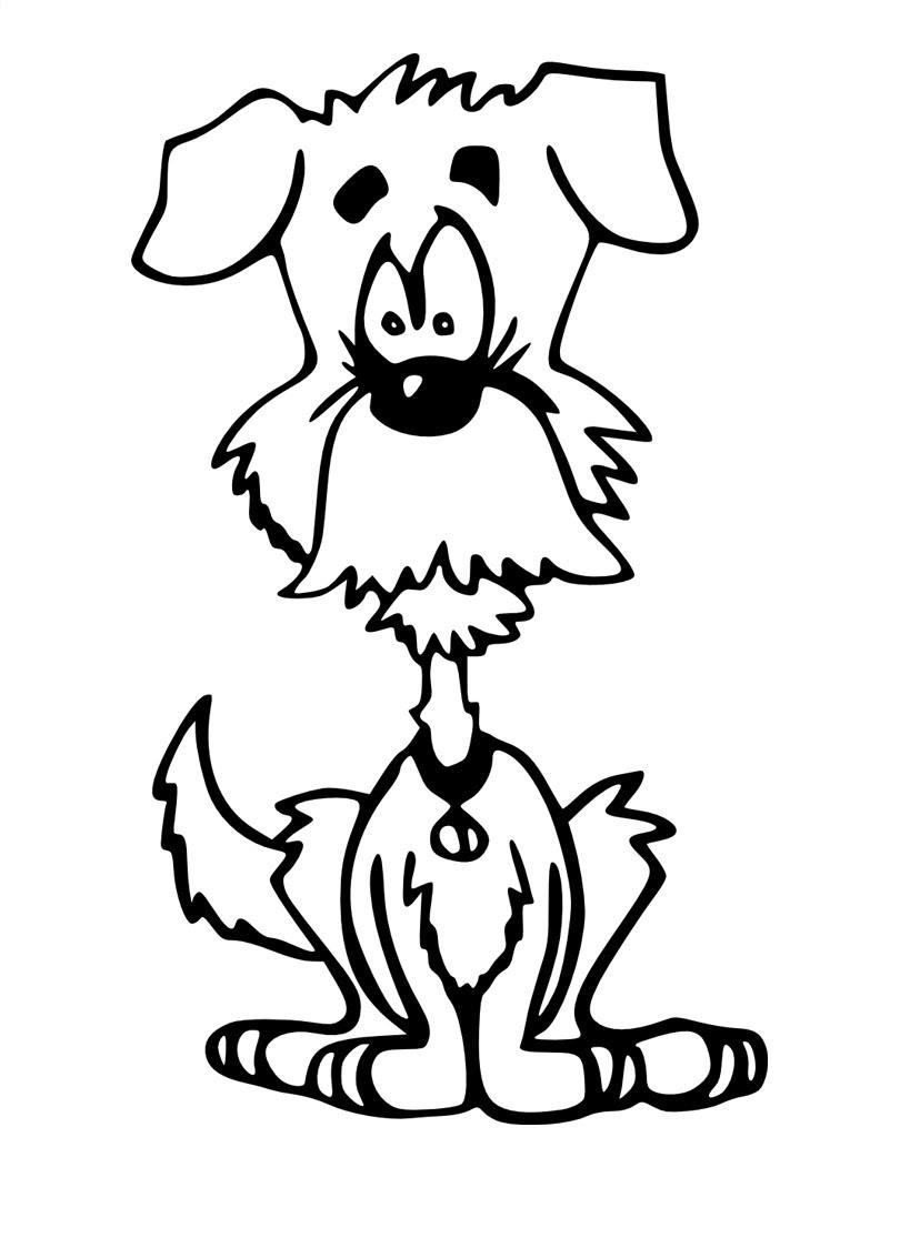 Coloriage de chien gratuit  imprimer et colorier