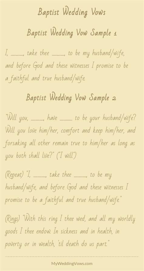 Baptist Wedding Vows   A girl can dream    Wedding vows