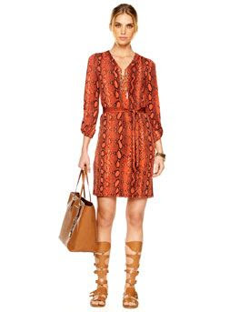 MICHAEL Michael Kors Chain Tie Dress