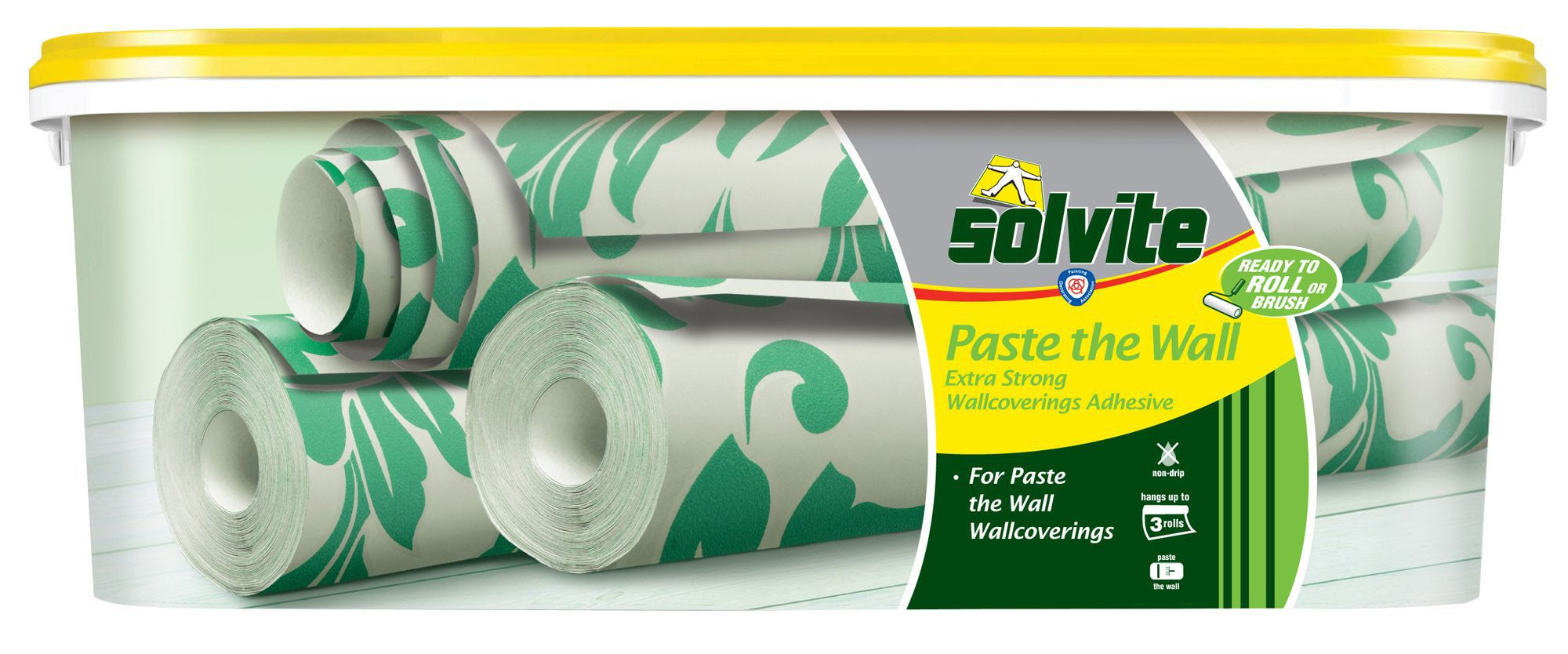 Solvite Paste The Wall Ready to Roll Wallpaper Adhesive 2.5kg | Departments | DIY at B&Q