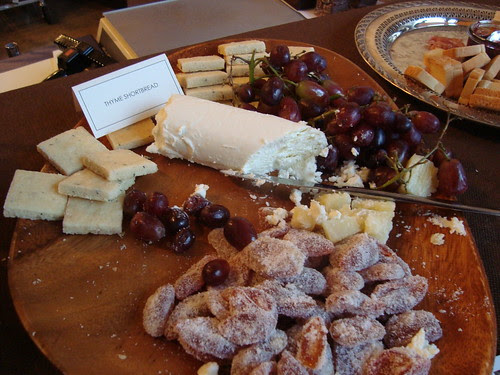 Thyme Shortbread with Candied Fruits and Cheese