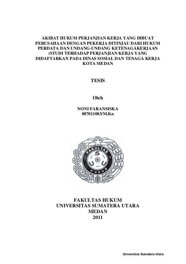 Contoh Soal Dan Materi Pelajaran 2 Contoh Tesis Hukum