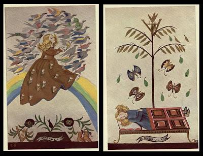 2 Polish kids book images b - Jan Kochanowski 1930 - Treny