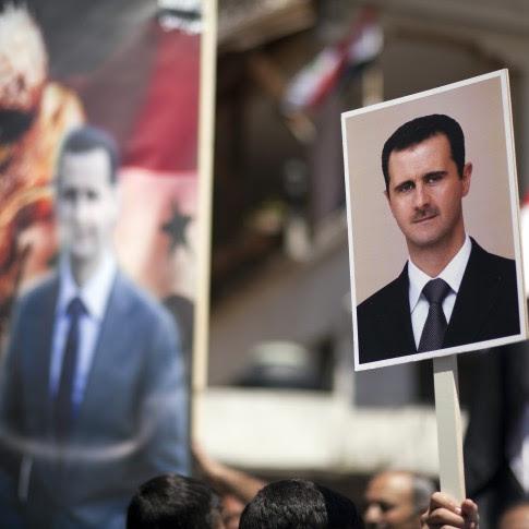 Demonstration in support of Syrian President Bashar Assad