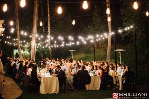 Italy Wedding Outdoor Reception Decorations, lighting.