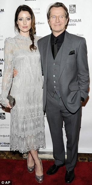 Gary Oldman e esposa Alexandra Edenborough