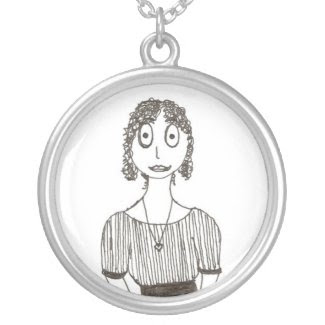 Creepy Jane Austen Personalized Necklace