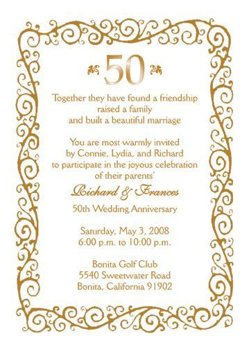 Anniversary Party Invitation, Style AP 008