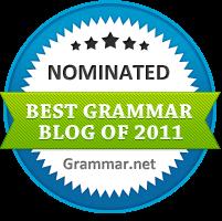 The Best Grammar Blog of 2011 nominee