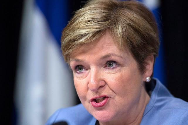 La vérificatrice générale, Guylaine Leclerc.... (Jacques Boissinot, archives PC)