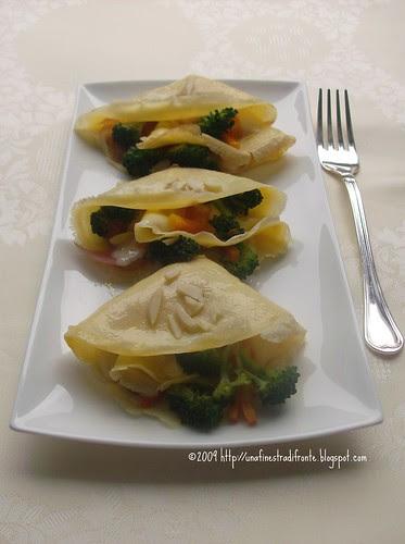 Ventagli con verdure e caprino