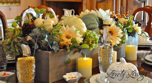 Vintage, Paint and more... Lovely Livings Fall Centerpiece