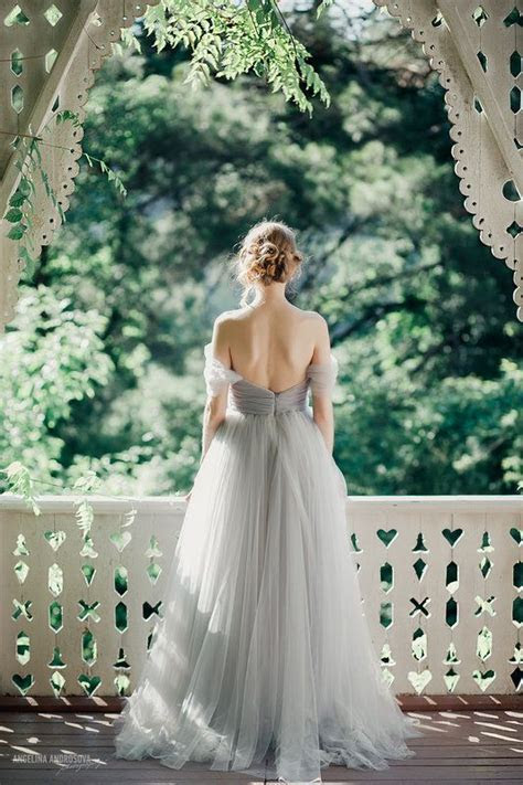 10 Grey Wedding Dress Ideas   Wedding, Tulle wedding