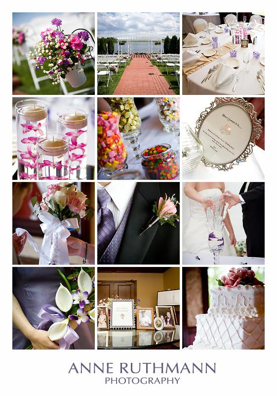 Purple & Pink Wedding Detail Inspiration Board