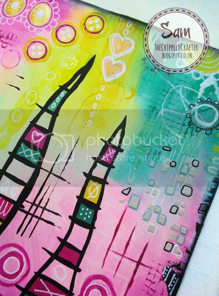Kate Crane inspired Art Journal Page by The Crippled Crafter, Cosmic Shimmer, Wanderlust