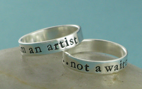 i am an artist, not a... custom rings