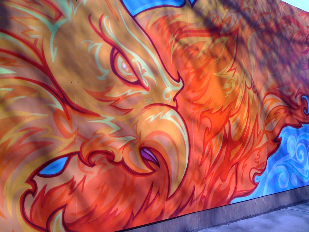 iPhone:  Greenwood Fire site mural