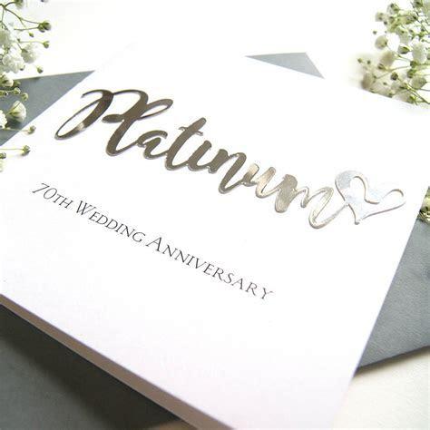 70th platinum wedding anniversary card by the hummingbird