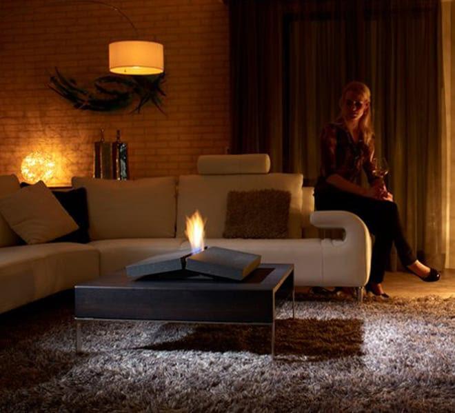Fireplace on your Coffee Table by Porsche Studio Design | DesignRulz