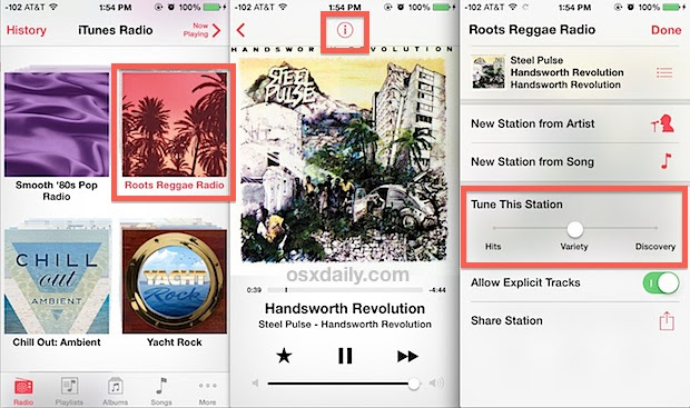 Adjust iTunes Radio song discovery