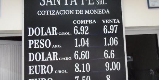 El peso argentino pierde valor frente al boliviano