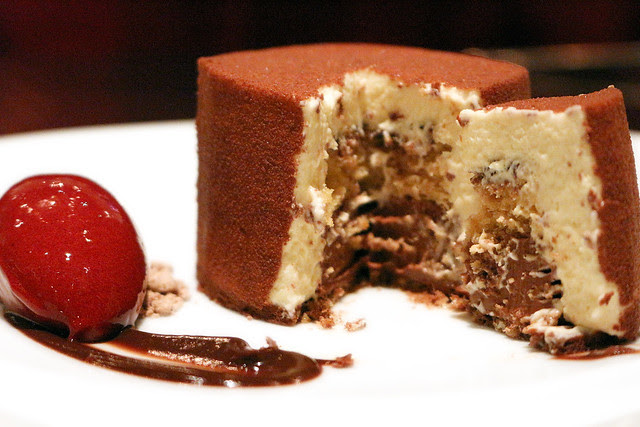 There are many layers of surprise inside this Tiramisu