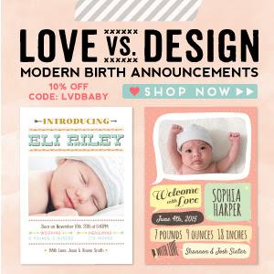 Love vs Design Birth Announcements