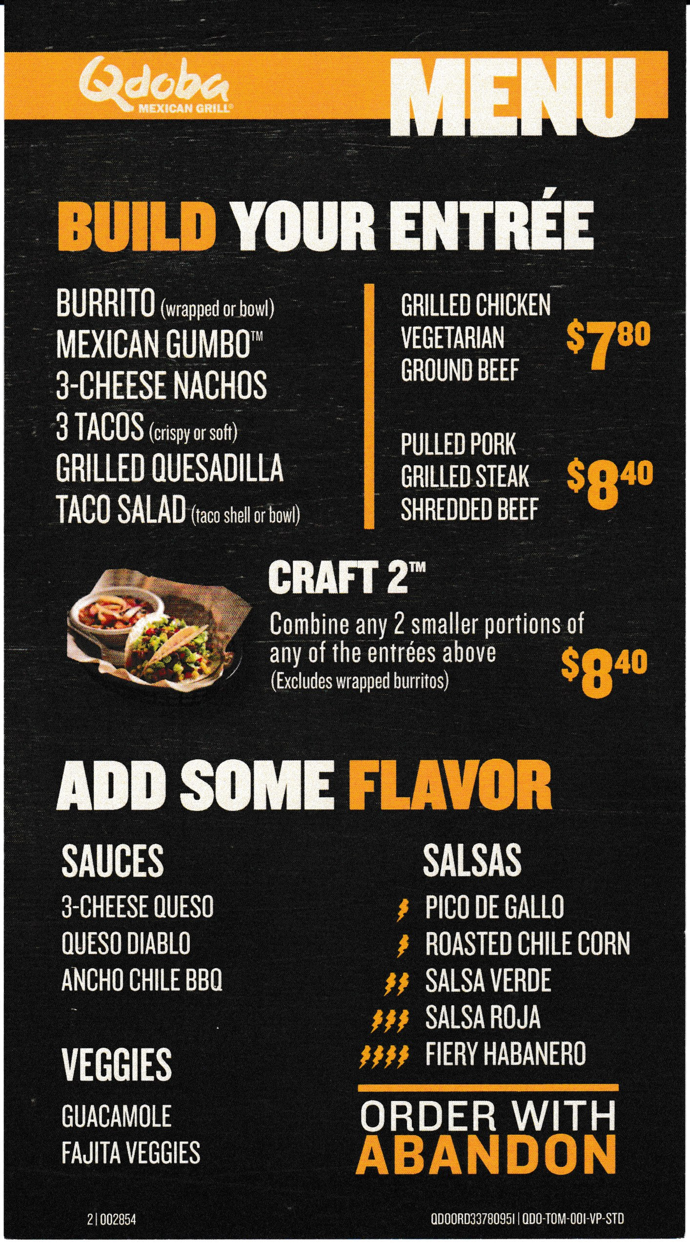 Qdoba Mexican Eats Menu Nutrition Nutritionwalls