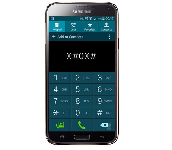 Samsung Galaxy menu oculto