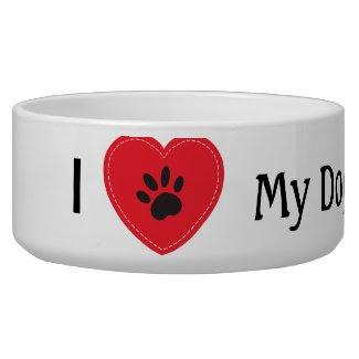 I Heart My Dog petbowl