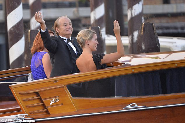 Her appearance at the Clooney wedding may have given her a taste for the celebrity lifestyle after she was pictured waving to people alongside Bill Murray