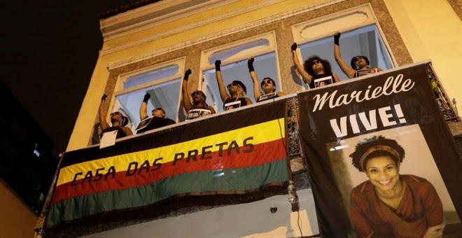 Protesta en Río de Janeiro por el asesinato de Marielle Franco. | REUTERS