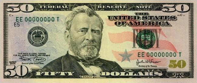 fifty dollar bill.