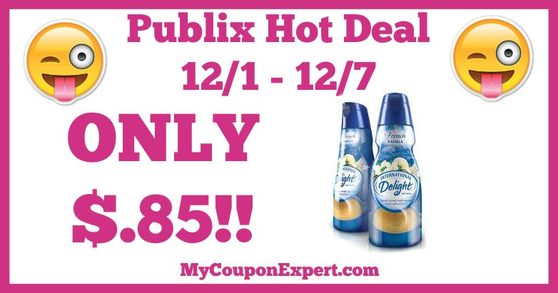 Hot Deal Alert! International Delight Creamer Only $.85 at Publix from 12/1 - 12/7