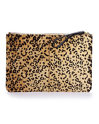 Claire Richards Leopard Print Pouch Bag