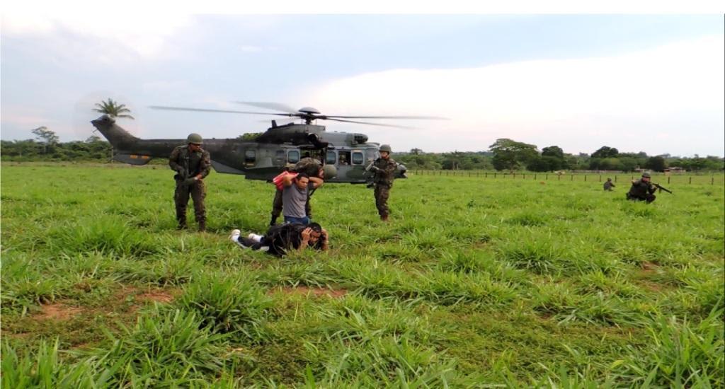 O treinamento foi realizado na Serra do Cachimbo, Sul do Pará