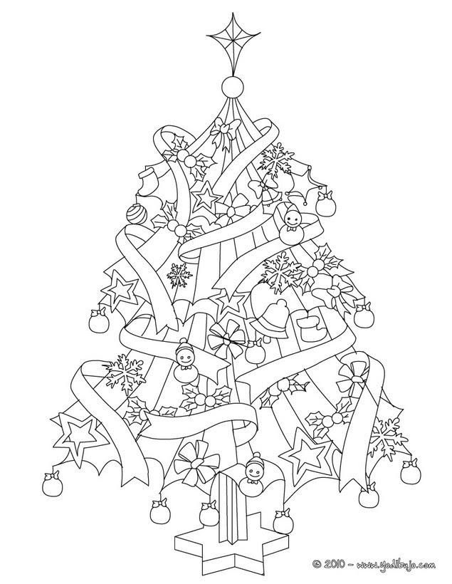 Dibujos Para Colorear Arbol De Navidad 20 Imágenes Navideñas Para