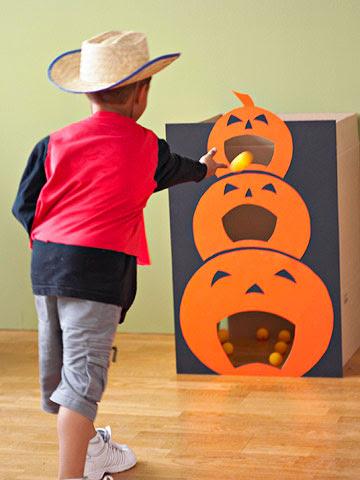 Pumpkin Tossing Game