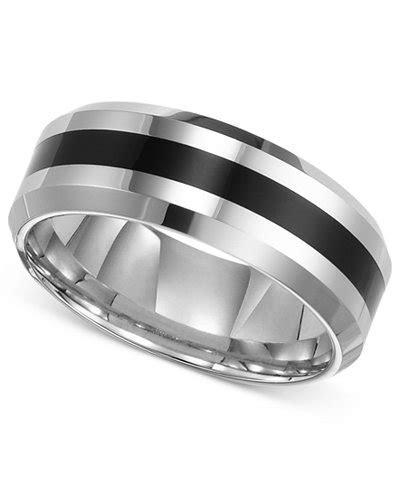 Triton Men's Tungsten Carbide Ring, Comfort Fit Wedding