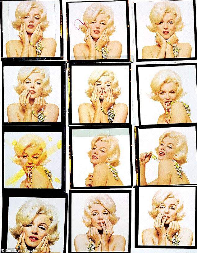 Todo mundo foi fixado sobre o peito de Marilyn Monroe, mas Bert Stern fez uma coisa de suas costas.  É tímido e é muito inteligente