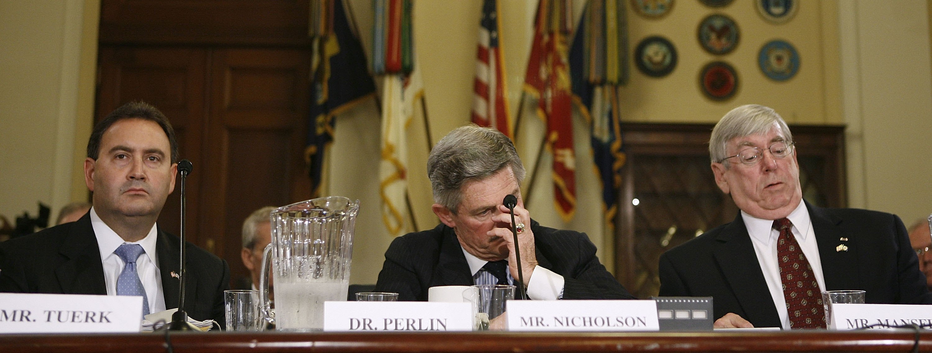 Top VA officials attend a House Committee hearing in 2006 on the breach of data security at the department.