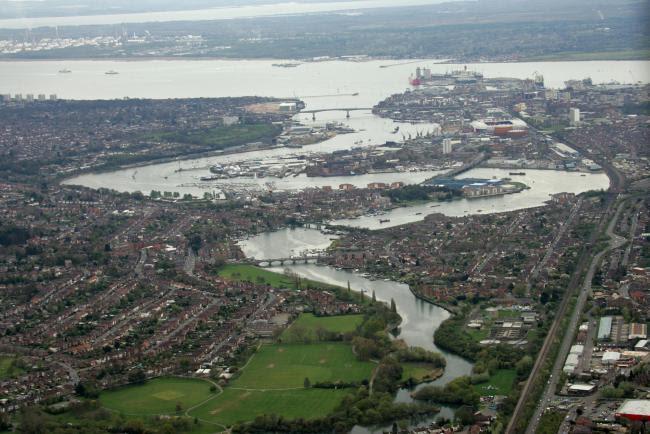 Southampton vu de l'air
