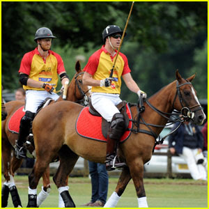 Princes William & Harry Play in Jerudong Trophy Polo Match