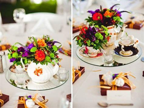 This is my idea of a flower tea set arrangement! Potted